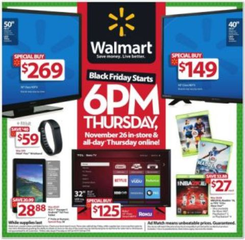 WalMart Black Friday Ad Scan 2016 - Page 1