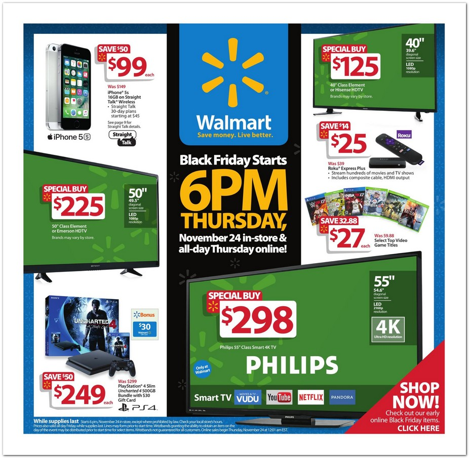 WalMart Black Friday page 1
